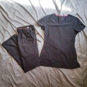heartSoul Scrub Set - Pewter - XXS top/XS pants